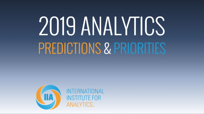 International Institute for Analytics 2019 Predictions – Some Thoughts