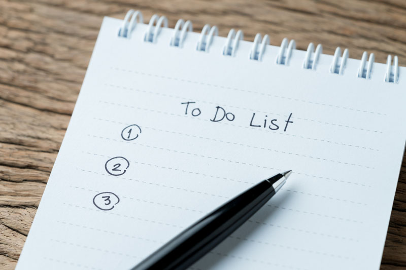 Top Three Items for Your 2021 To-Do List