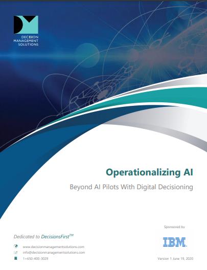 Operationalizing AI: Beyond AI Pilots with Digital Decisioning